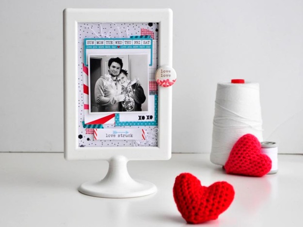 Valentine Frame tutorial Kasia Tomaszewska for Chic Tags