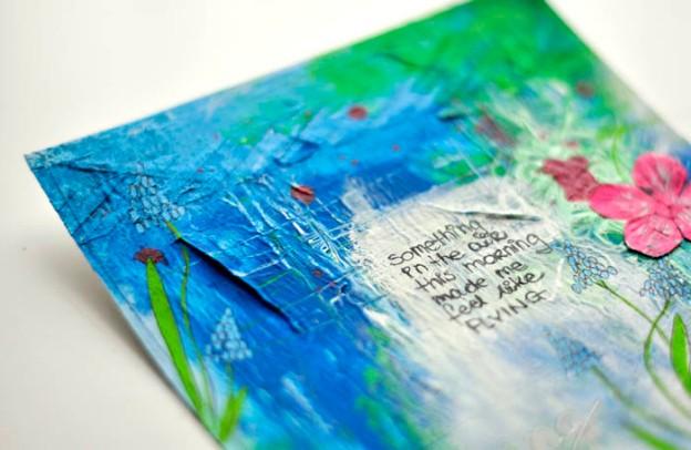 SPRING art journal page Kasia Tomaszewska det1