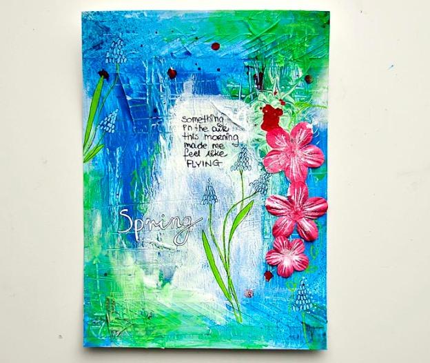 SPRING art journal page Kasia Tomaszewska