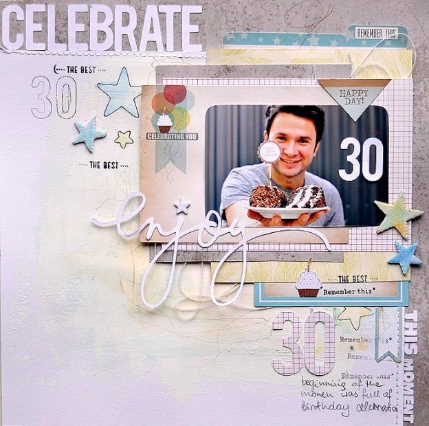 Enjoy Chic Tags Birthday LO