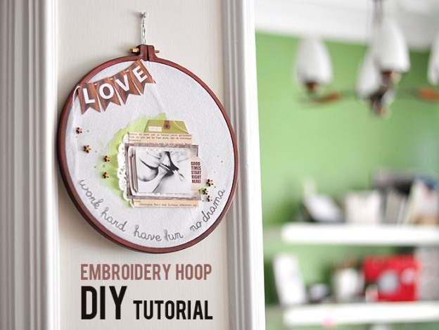 EMBROİDERY HOOP tutorial