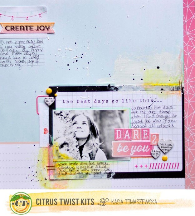 Dare to be You kit add on march Kasia