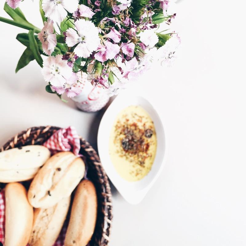 istanbul lunch chleb kwiaty