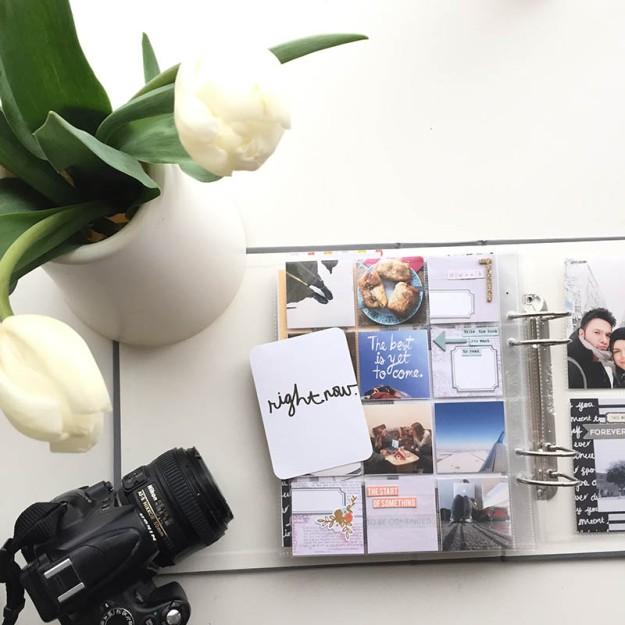 wiosna tulipany project life album