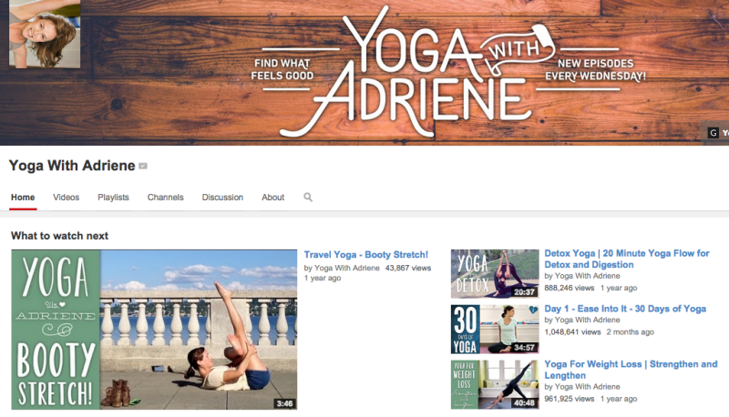 yoga with adriene youtube yoga